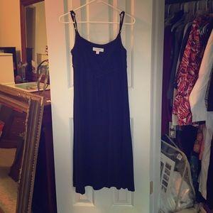 Black TShirt Knit Baby Doll Summer Dress